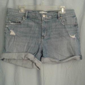 Anne Taylor Loft 10 denim jean shorts 30